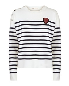 Striped Heart Jumper
