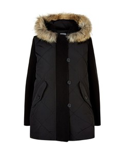 Fur Trim Hooded Coat