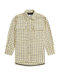 Striped linen wide-leg pants