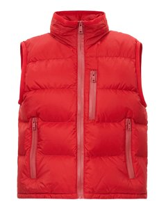 SLEEVELESS NYLON DOWN JACKET