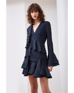 PHASE LONG SLEEVE DRESS navy