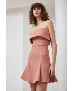 FLUIDITY MINI DRESS terracotta
