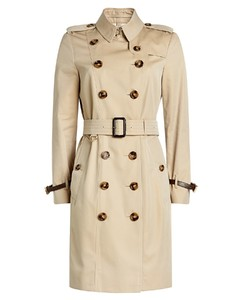Cotton Trench Coat with Leather
