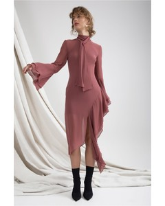 TAKE A HOLD LONG SLEEVE DRESS desert rose