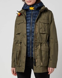 Cotton Parka Jacket with Raccoon and Fox Fur