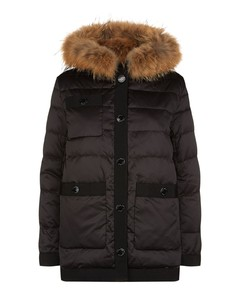 Padded Fur Trim Coat