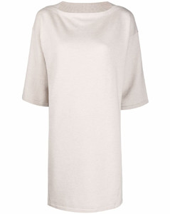 Ruched cotton and silk-blend dress