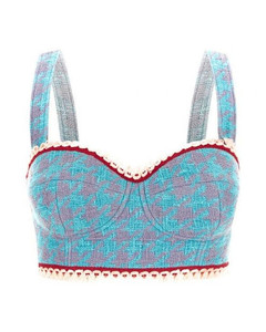 Ric-rac trimmed broderie-anglaise cotton dress