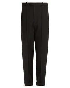 Jo tapered-leg cropped wool trousers