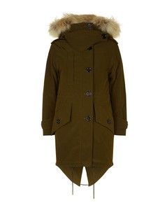 Fur Trim Down Parka Coat