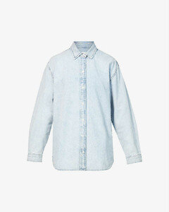 Wool and mohair-blend crepe straight-leg pants