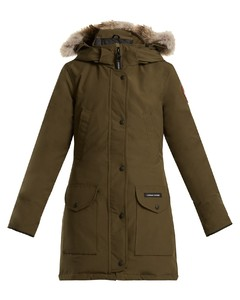 Trillium fur-trimmed down coat