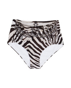 Navy Pleated Cropped Trousers