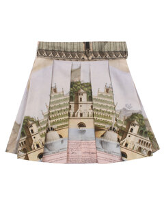 1044 Mid-Rise Patchwork Denim Cutoff Shorts, Zenith