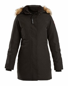 Victoria fur-trimmed down coat