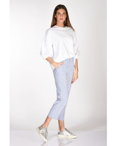 Pearls & Bow Embroidered Denim Dress
