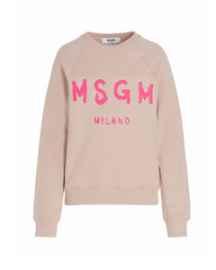 Comic-print striped cotton shirt