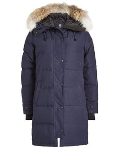 Down Parka with Fur-Trimmed Hood