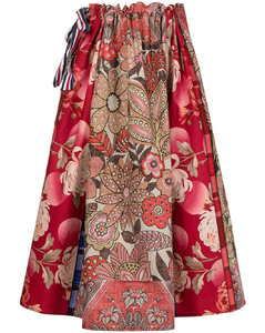 Purple Michlin Belted Down Puffer Jacket