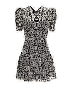 Ronny broderie-anglaise cropped jeans
