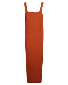 Anaste collarless leather jacket