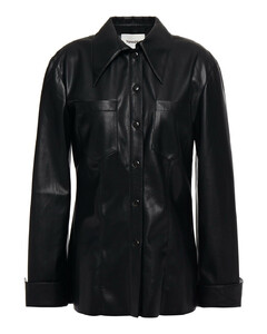 STRIPED LONG SLEEVE FRONT TIE COLLARED DRESS