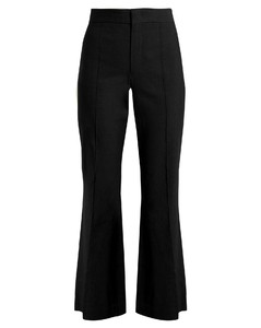 Reeves cropped flared-leg trousers