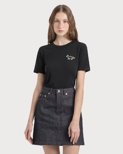 Striped logo jumper with silver buttons