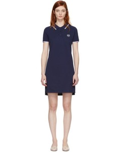 Navy Tiger Crest Polo Dress