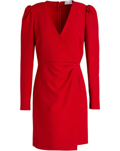 'Mock' biker jacket in lambskin leather