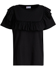 Edith frilled voile peplum top