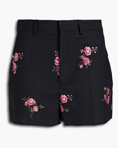 Glossed faux textured-leather culottes