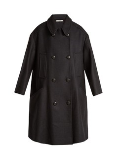 Flicka double-breasted twill coat