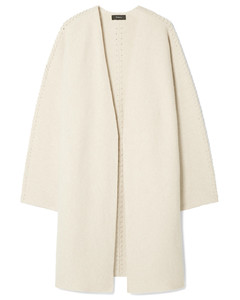 Puff Sleeve Cashmere Trench Coat