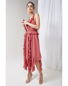 SAY SOMETHING DRESS mineral red