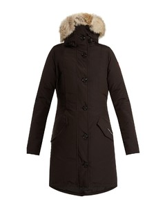 Rossclair fur-trimmed down coat