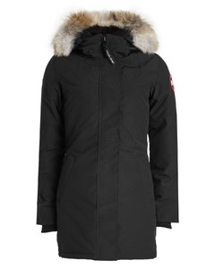 Victoria Down Parka with Fur-Trimmed Hood