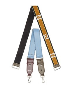 Strap You logo-jacquard and leather bag strap set