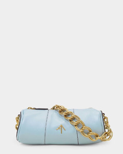 Pompom-embellished toquilla-straw basket bag