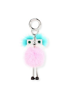 Mini Mink Pom Girl Charm for Handbag