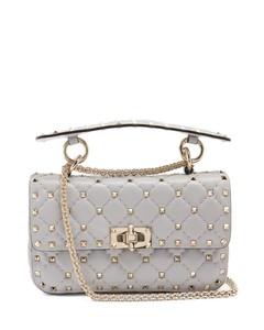 Rockstud Spike small quilted-leather shoulder bag