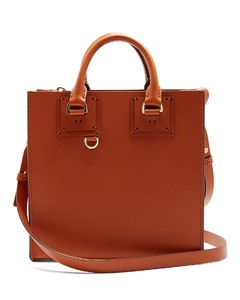 Albion square leather tote bag