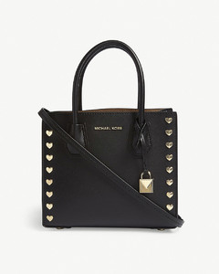 Mercer heart medium leather tote