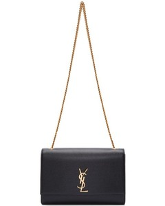 Black Large Monogram Kate Satchel