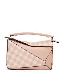 Pink Gingham Puzzle Bag