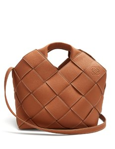 Leather Woven Basket bag