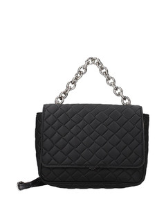 Faux-pearl knuckle box clutch