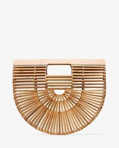 brown Ark Small bamboo Clutch Bag