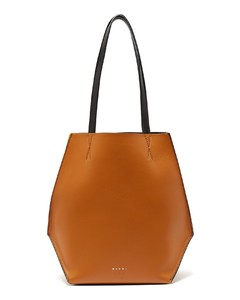 Tangram small leather shopping bag