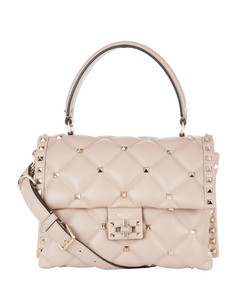Leather Rockstud Candy Shoulder Bag
